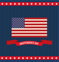 Independence day flag united states vector