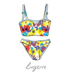 Lingerie set vintage design vector