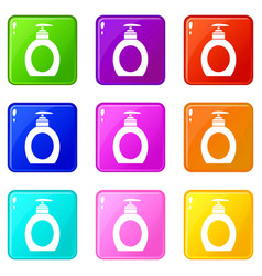 liquid soap set 9 vector image vector image