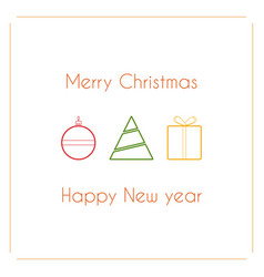 modern simple design of christmas card with vector image vector image
