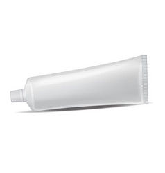 plastic tube for medicine or cosmetics - vector image vector image