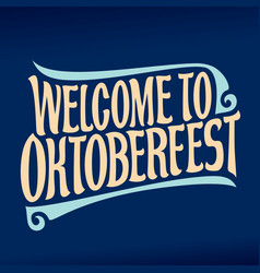 poster for oktoberfest vector image vector image