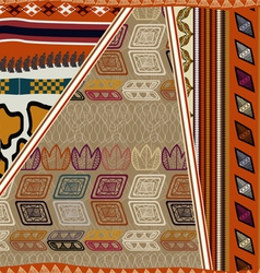 Seamless texture of African vector image