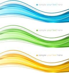 Set of color curve lines design element vector