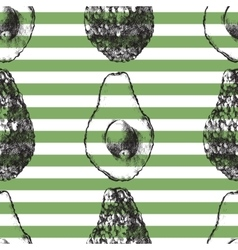 striped seamless pattern with avocado vector image