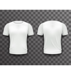 T-shirt template front back realistic 3d design vector