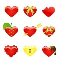 valentine heart vector image vector image