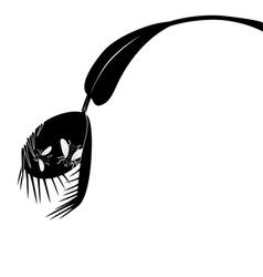 Venus flytrap and fly vector
