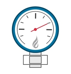 Manometer or pressure gauge icon vector