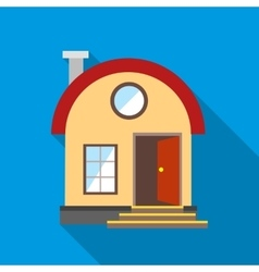 House with chimney icon flat style vector