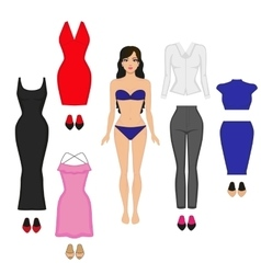 The concept of the female wardrobe vector