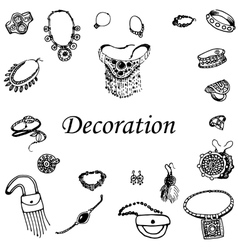 A variety of decorations vector