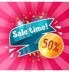 Sale time banner Advertising flyer for commerce vector image