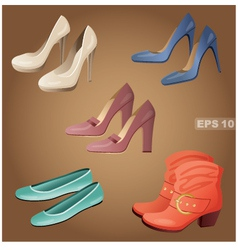 Female shoes set vector