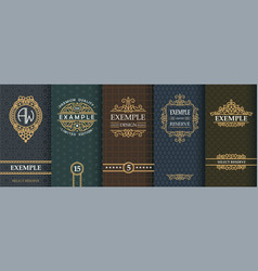 Exquisite set of design templates for label and vector