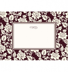 Rose pattern and frame vector