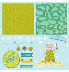 Baby Bear Shower Theme vector image