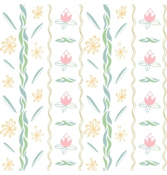 art background flowers color vector image