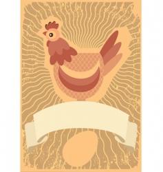 chicken grunge vector image