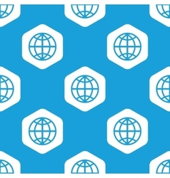 Globe hexagon pattern vector