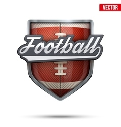Premium symbol of american football label vector
