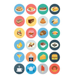 Food flat icons 1 vector
