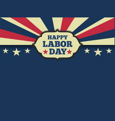 American labor day horizon background vector