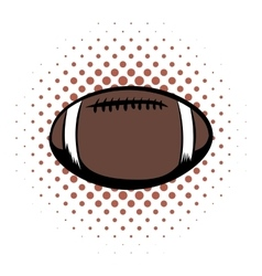 American football comics icon vector
