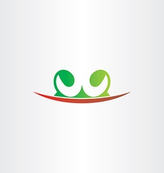 Letter w plant green red icon logo vector