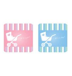 newborn card vector image