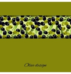 olives design background vector image