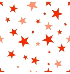 Seamless pattern with red stars vector
