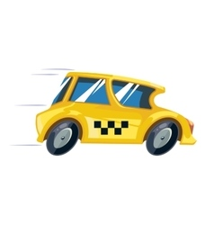 Ilustration of yellow taxi car vector