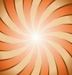 Abstract brown and orange ray twirl background vector