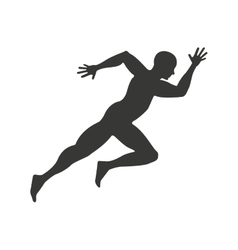 Athlete running character icon vector