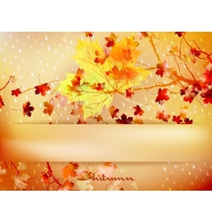 Autumn leave made of triangles eps 10 vector
