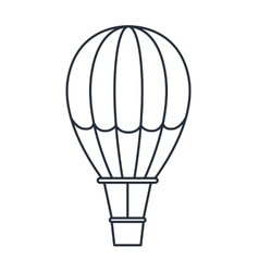 balloon air hot isolated icon design vector image vector image
