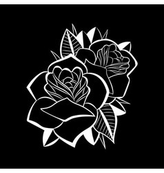 Beatiful flower black black vector image vector image