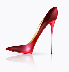 big red shoe vector image
