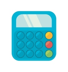 Blue calculator class supplie school vector