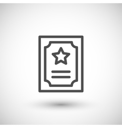 Charter line icon vector