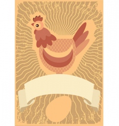 chicken grunge vector image