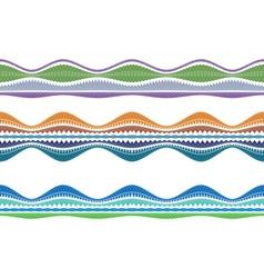 Color border vector image vector image