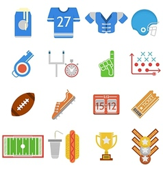 Colored icons collection for american football vector