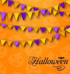 Decoration with Colorful Bunting Pennants for vector image vector image