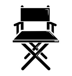 Director chair icon simple black style vector