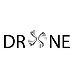 Drone abstract text vector image vector image