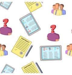 Employee pattern cartoon style vector