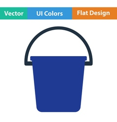 Flat design icon of bucket vector image vector image