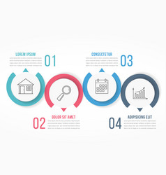 Four steps infographics vector